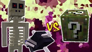 REI DOS ESQUELETOS VS  LUCKY BLOCK AMOR MINECRAFT LUCKY BLOCK CHALLENGE SKELETON GOLIATH
