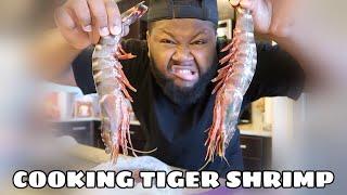 HUGE BLACK TIGER SHRIMP + COOK WITH ME + SEAFOOD BOIL