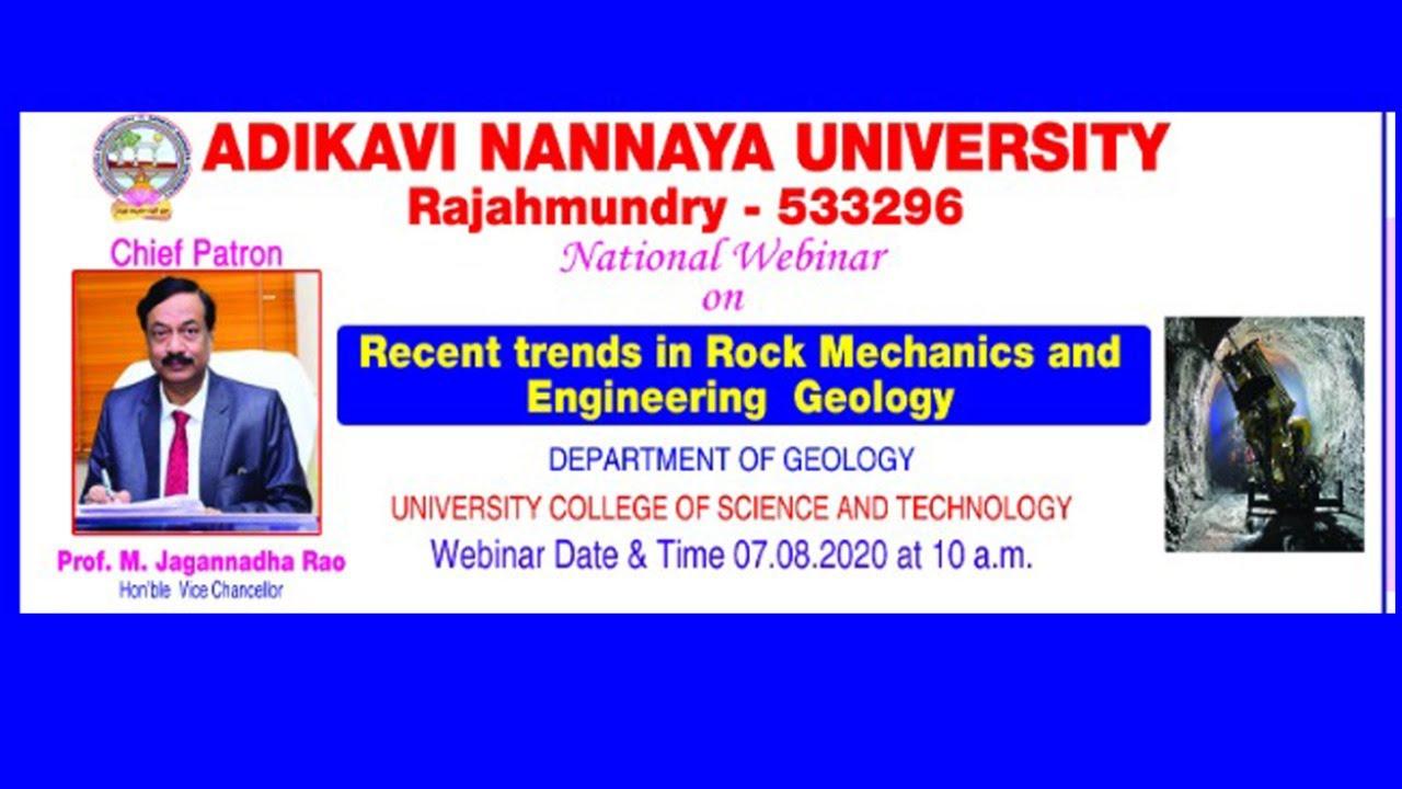 "Webinar on ""Recent Trends in Rock Mechanics and Engineering Geology"""