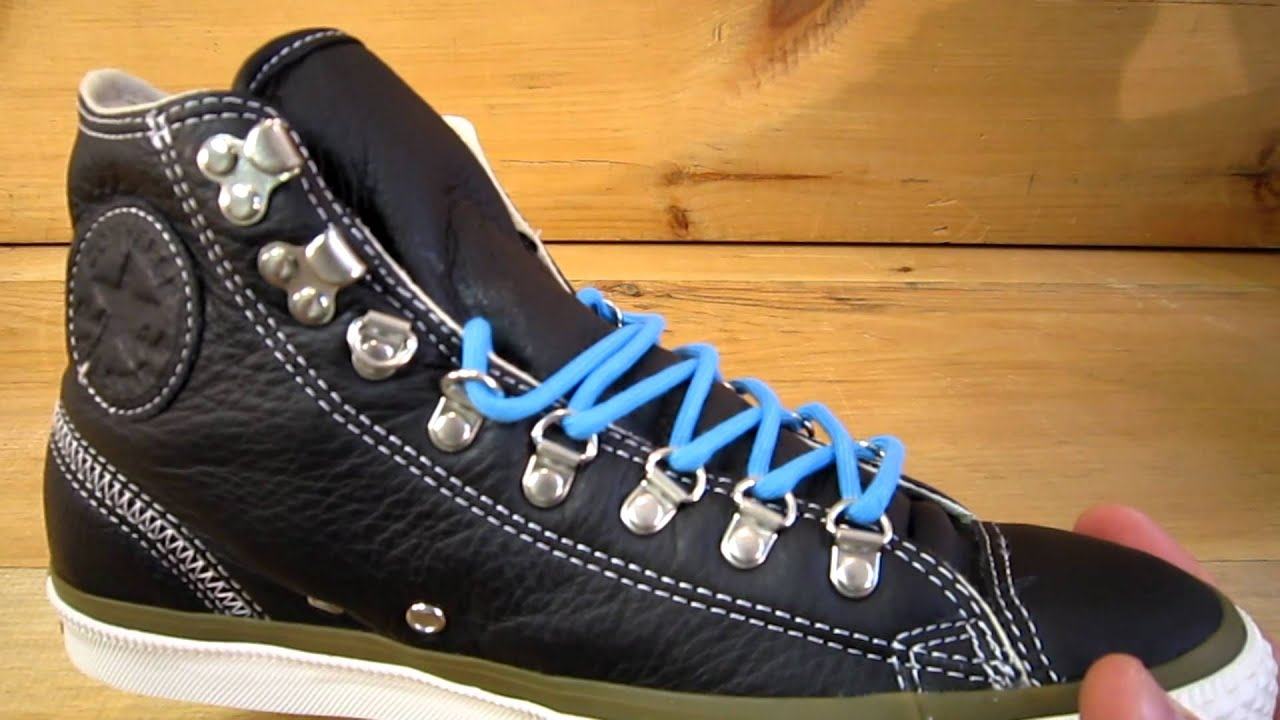 Converse All Stars Chuck Taylor Hiker Leather Black - YouTube 6f5fbffec