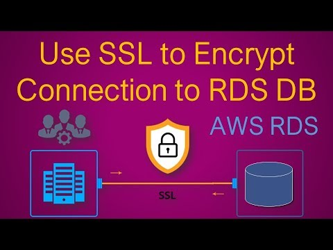AWS RDS Security | Use SSL To Encrypt A Connection To A DB Instance