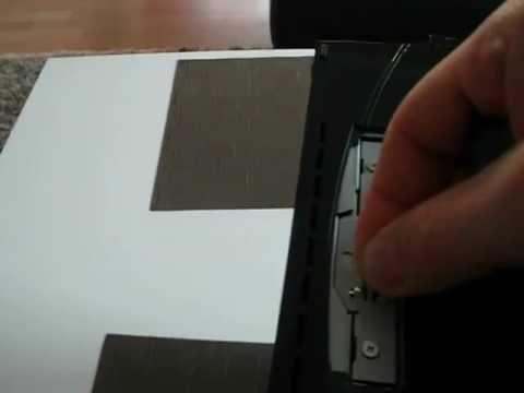 ps3 festplatte wechsel ausbauen austauschen genaue. Black Bedroom Furniture Sets. Home Design Ideas