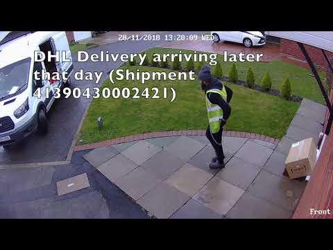 Strange DHL Delivery Driver Behaviour