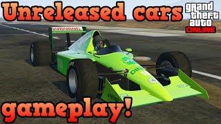 Unreleased formula 1 cars gameplay!  Progen PR4 & Ocelot R88 - GTA Online