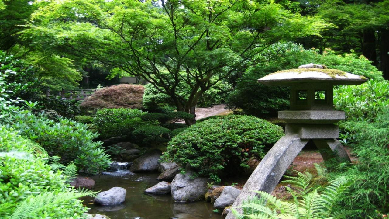 Japanese Zen Garden   Water Stream U0026 Shakuhachi