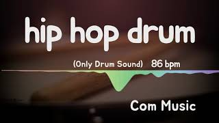 Hip hop drum backing 86 bpm (drum only)