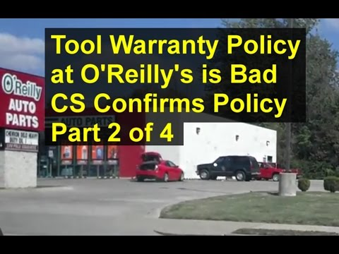 Beware of O'Reilly's auto parts tool warranty, it is harsh. Part 2 of 4 - VOTD