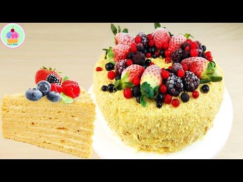 Как украсить торт наполеон ягодами