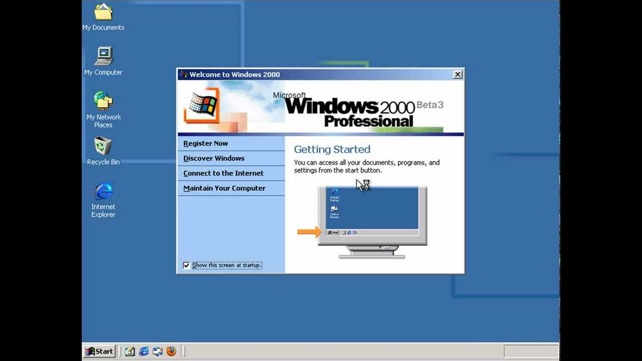 windows 2000 professional beta 3 build 1946 in microsoft