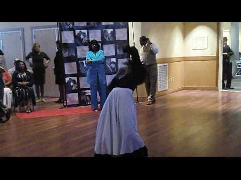 Nicole R. Hughes dancing at sister's wedding