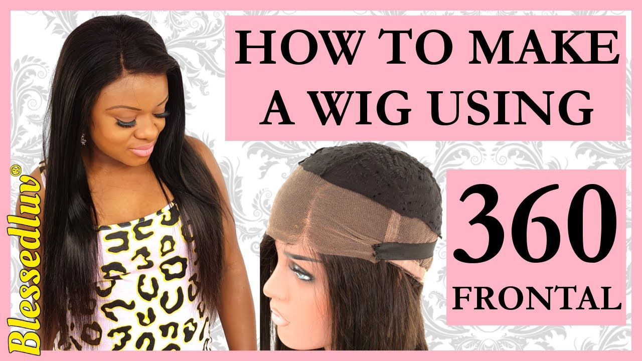 360 Lace Frontal Install Tutorial Wig Making L No Glue L No Hair Out
