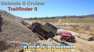 Gelande II with Cruiser Body (Toyota Land Cruiser) and Trailfinder II (Toyota Hilux) Rollover King