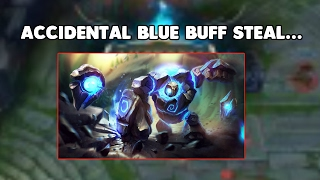 Accidental BLUE BUFF Steal   LoL Funny Moments #3