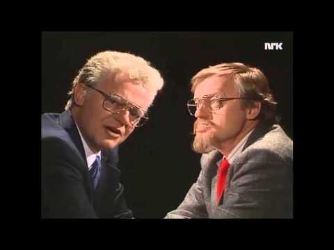 Einar Førde og Yngve Haagensen diskuterer