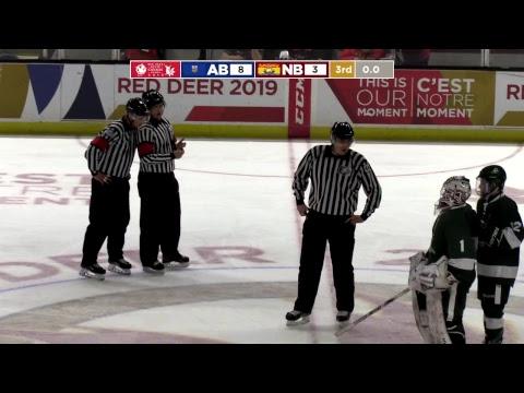 2019 CWG - Men's Hockey - Game 30 - AB vs NB