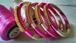 Kalar-13  Designer silk thread bangles /double color silk thread bangles /DIY