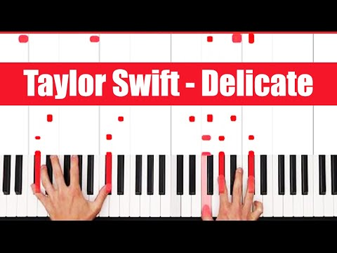 Delicate Taylor Swift Piano Tutorial - CHORDS