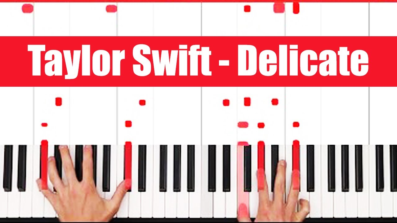 Delicate Taylor Swift Piano Tutorial Easy chords