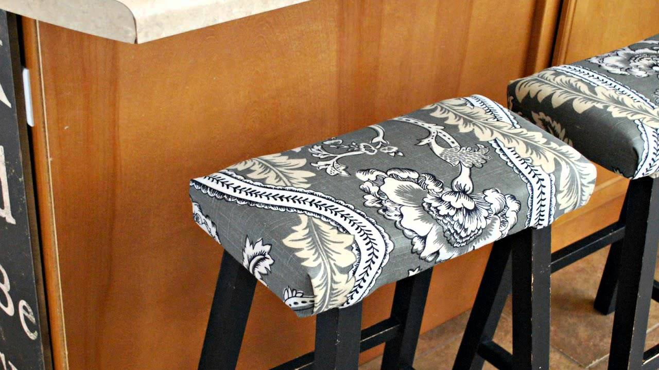 HOW TO : Upholster Bar Stools - HOW TO : Upholster Bar Stools - YouTube