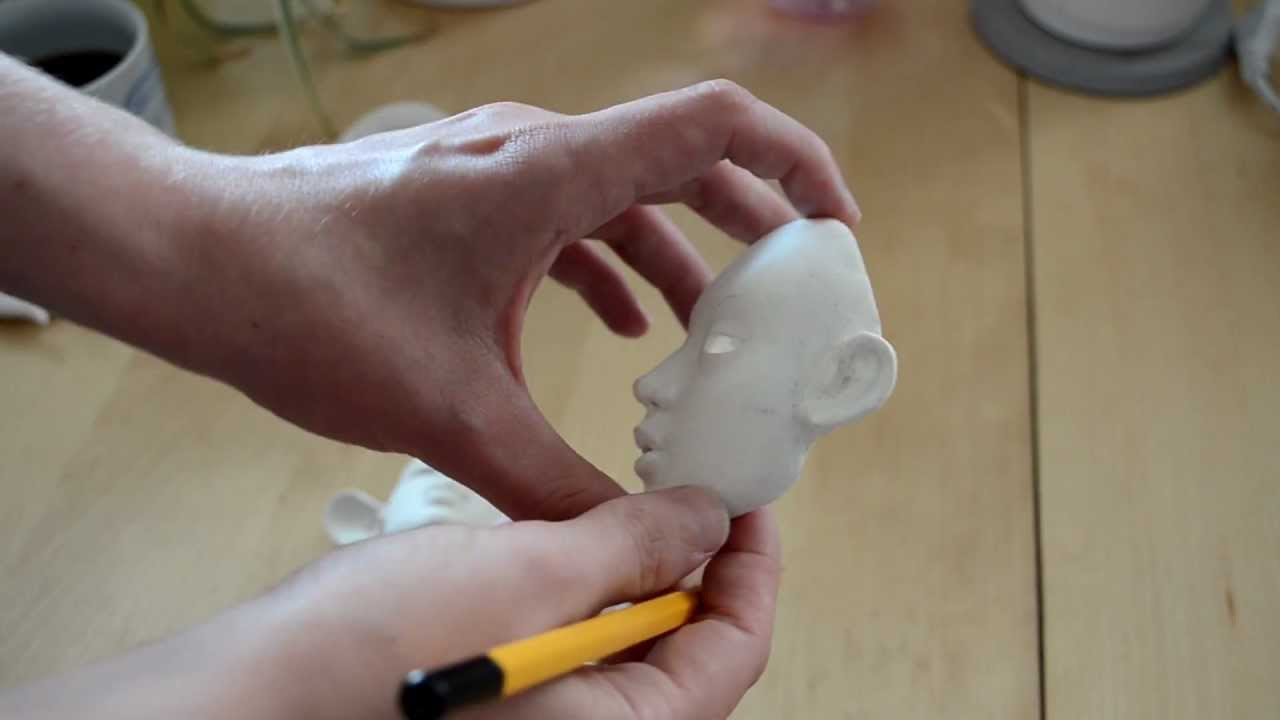 Making my clay BJD part 1/3 - YouTube