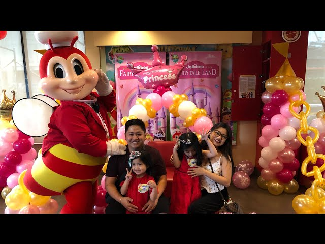 Birthday party at Jollibee Fairytale land party