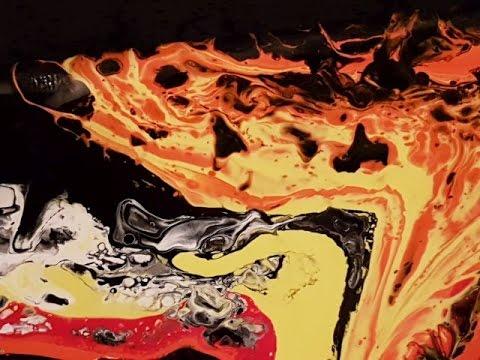 Fluid Painting English Pour 'Phoenix' Free Your Mind Art