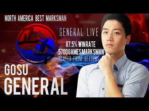 North America The Best Marksman player Gosu General Live (Mobile legends)