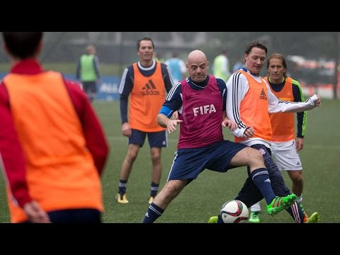 Football top priority on FIFA President's first day