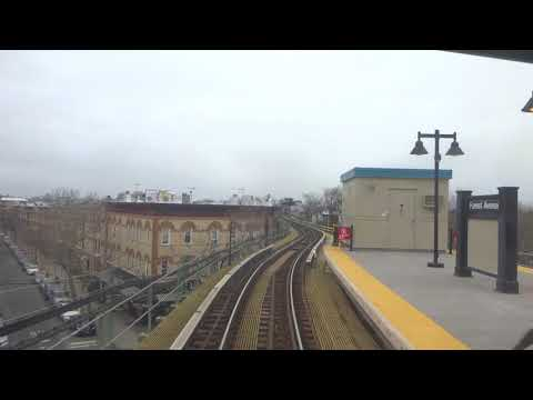 NYC Subway: Railfan Window R42 (M) From Metropolitan Avenue To Myrtle-Wyckoff Avenues(Track 1)
