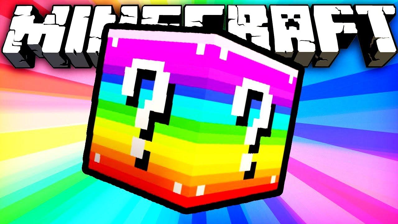Скачать Lucky Block Rainbow для Minecraft 1.7.10