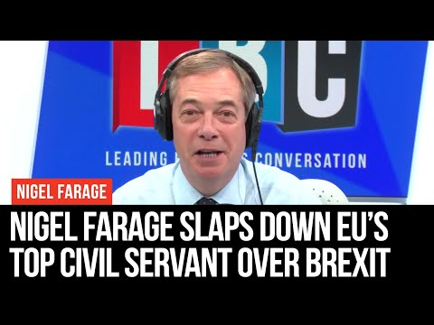 Nigel Farage Slaps Down EU's Top Civil Servant Over Brexit Bill Demands
