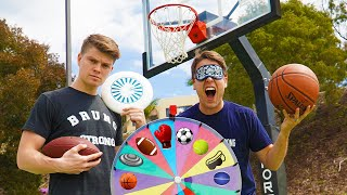 Download WHEEL OF SPORTS TRICK SHOT BATTLE!! Mp3 and Videos