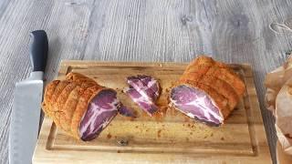 Вкуснейшее вяленое мясо или мясо холодной сушки. (Хамон в домашних условиях)