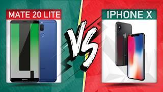 Huawei Mate 20 Lite VS iPhone X smartphone comparison