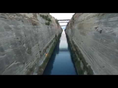 Corinth Canal Fly Through With Drone