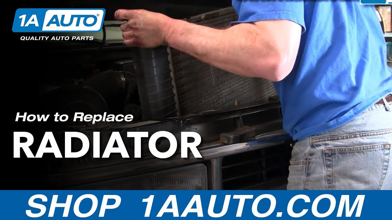 install replace radiator chevy pickup truck tahoe