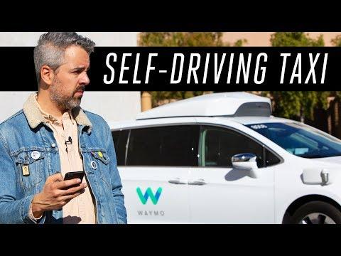 Riding a Waymo self-driving taxi - YouTube