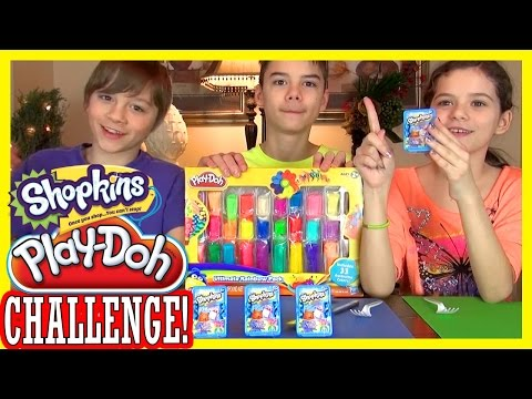 SHOPKINS PLAY DOH CHALLENGE!  |  BLIND BAG BASKET OPENING!