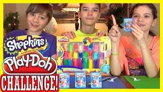 SHOPKINS PLAY DOH CHALLENGE!  |  BLIND BAG BASKET OPENING!  |  KITTIESMAMA