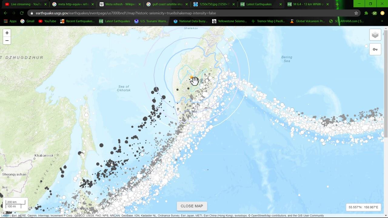 DEEP Large 6.4 Earthquake Esso Russia 9/14/2020