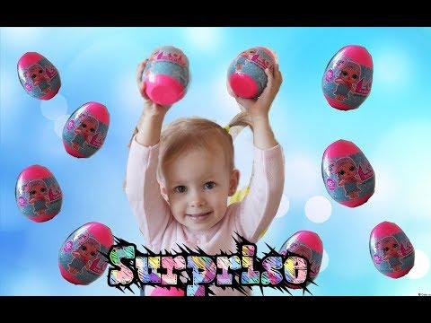 видео Открываем сюрпризы подделка L..O.L. surprise Открываем яйца с сюрпризами