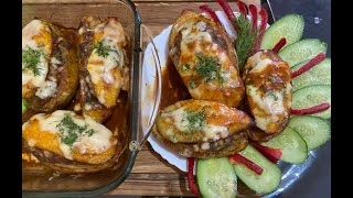 Это настолько ВКУСНЫЙ рецепт на завтрак обед и ужин Фаршированная картошка в духовке сыр мясо