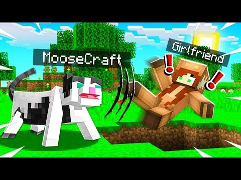 I DISGUISED As A CAT To PRANK MY GIRLFRIEND in MINECRAFT! (IT WORKED)