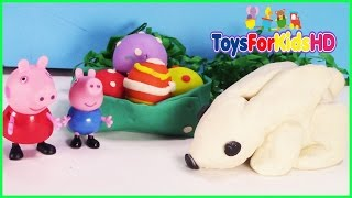 Peppa Pig y George Easter Bunny - Play Doh Conejito de Pascua Stop Motion ToysForKidsHD