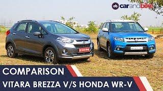 Maruti Vitara Brezza Vs Honda WR-V Comparison Review - NDTV CarAndBike