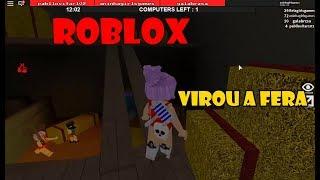 ROBLOX - Ana! a Bela Virou uma Fera do Marretão (Flee The Facility)