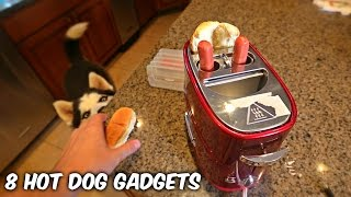 Repeat youtube video 8 Hot Dog Gadgets put to the Test