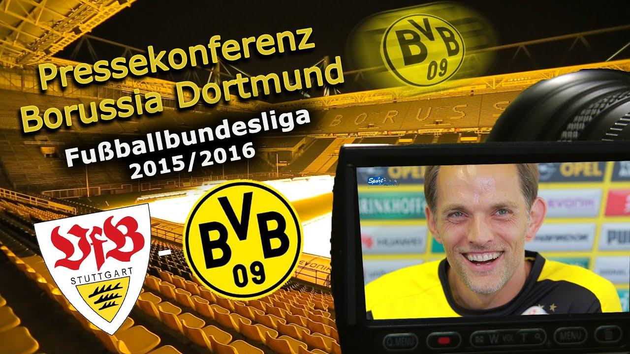 VfB Stuttgart - Borussia Dortmund: Pk mit Thomas Tuchel