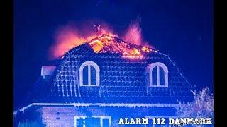 31.08.2019 Voldsom brand efter lynnedslag