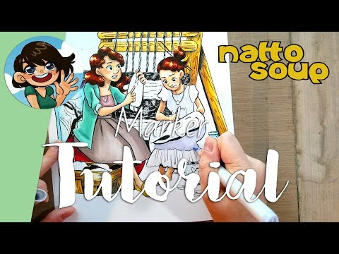 Weaving a Tale- Copic Marker Illustration Tutorial thumbnail